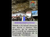 Suspensión Festividad Religiosa Virgen de Monserrat